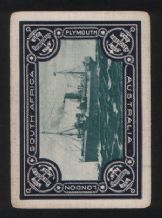 Advertising Playing cards. Aberdeen shipping Line by Thomson & co. London.